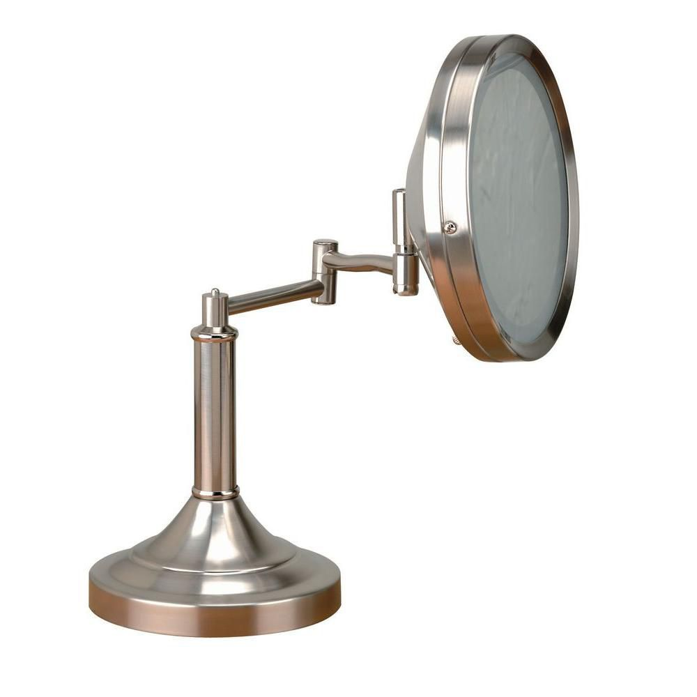 Illumine 1 Light Table Lamp Steel Finish