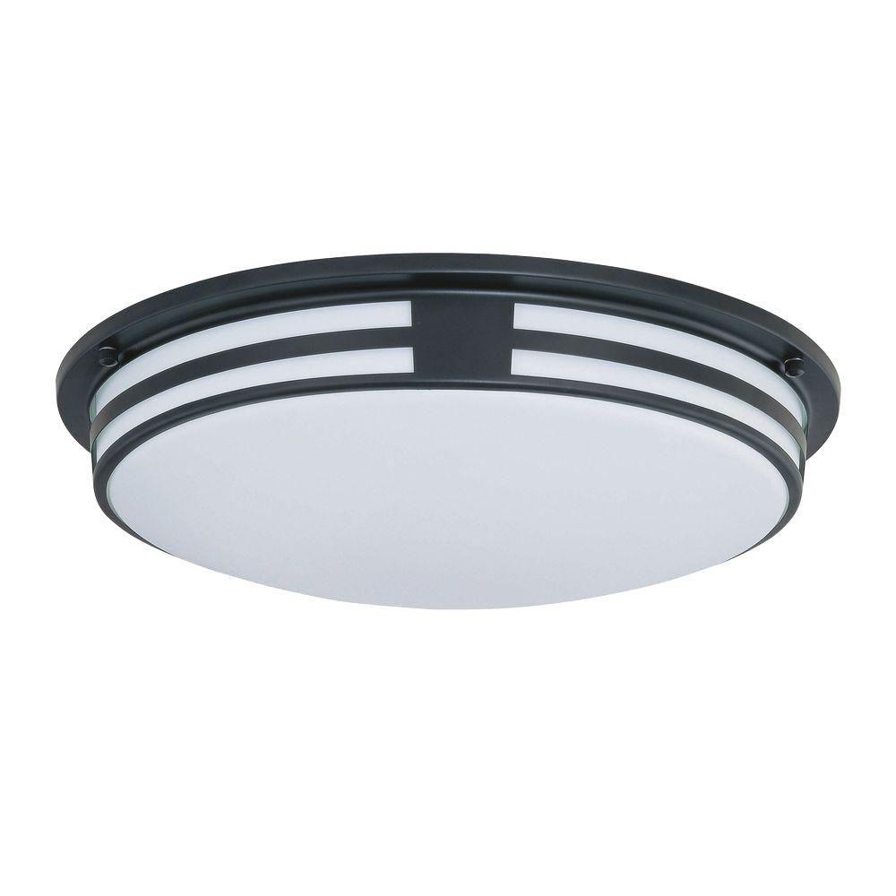 Lampe à deux ampoules avec abat-jour blanc, Fini noir