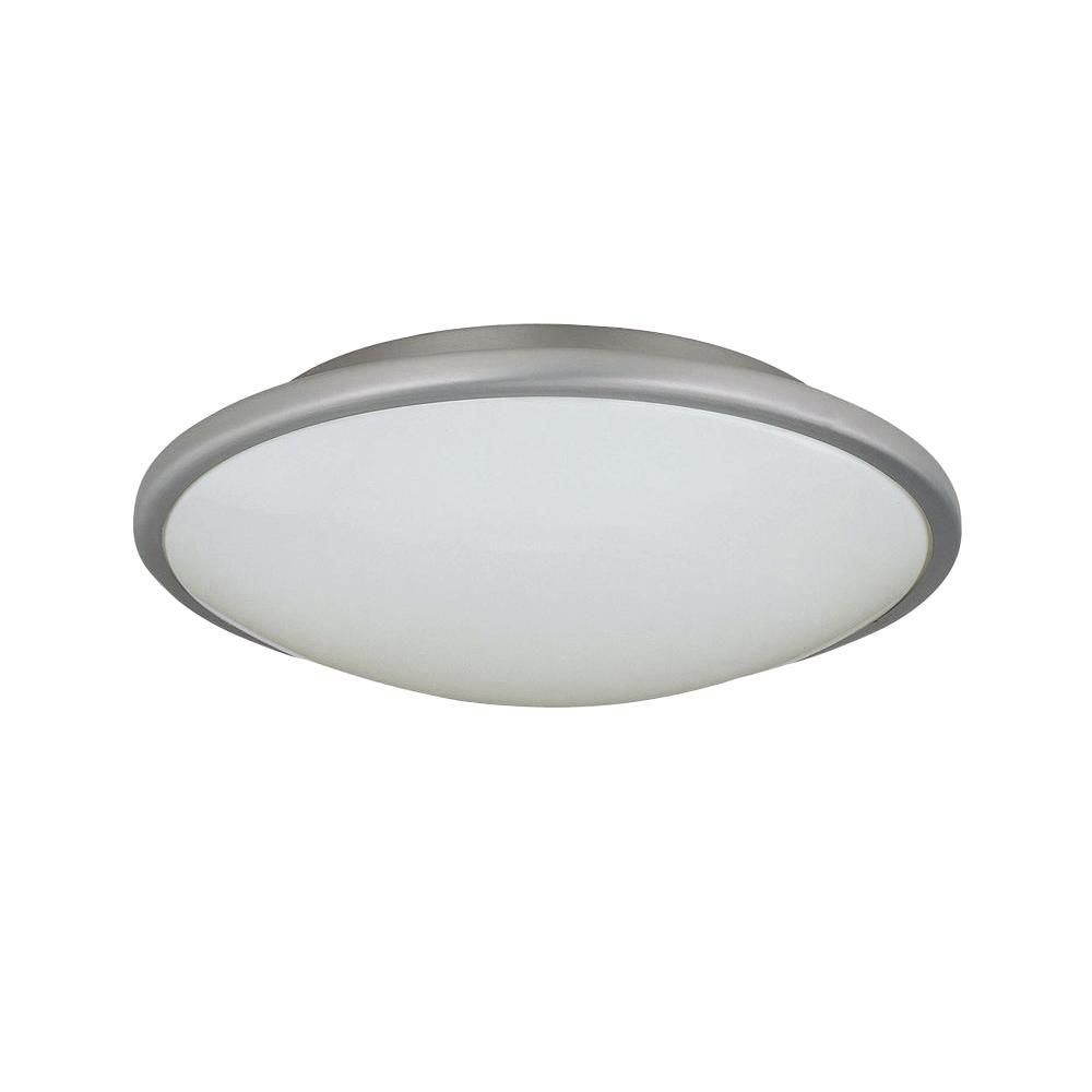 1 Light Flushmount Steel Finish White Acrylic Shade CLI-LS438878 Canada Discount