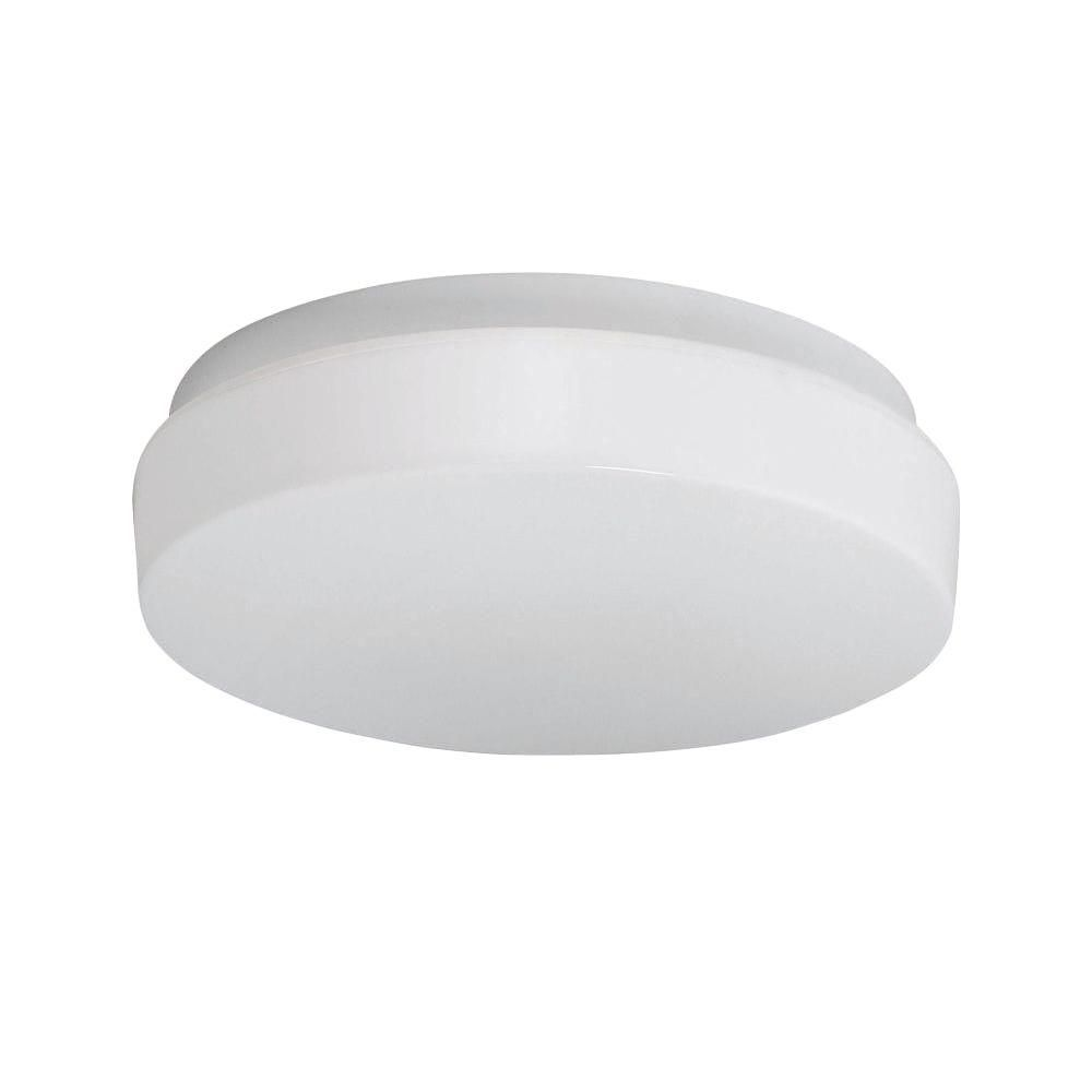 1 Light Flushmount White Finish White Acrylic Shade CLI-LS438908 Canada Discount