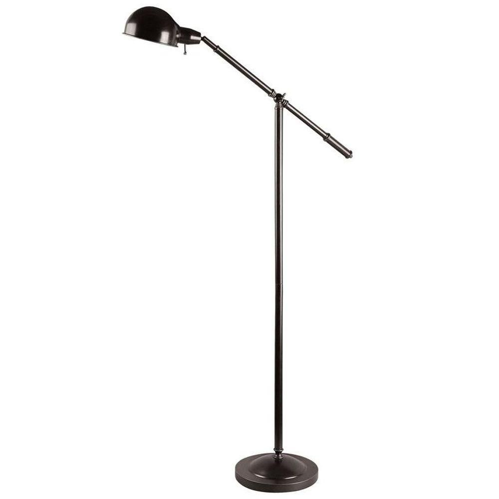 1 Light Floor Lamp Bronze Finish
