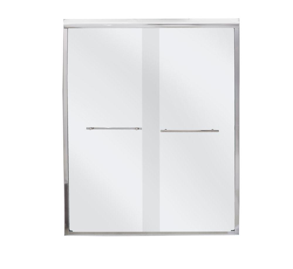 Mirolin Frameless By Pass Shower Door BD50PS The Home Depot Canada