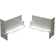 4 1/8-inch Sloped Sill Pan End Caps in White