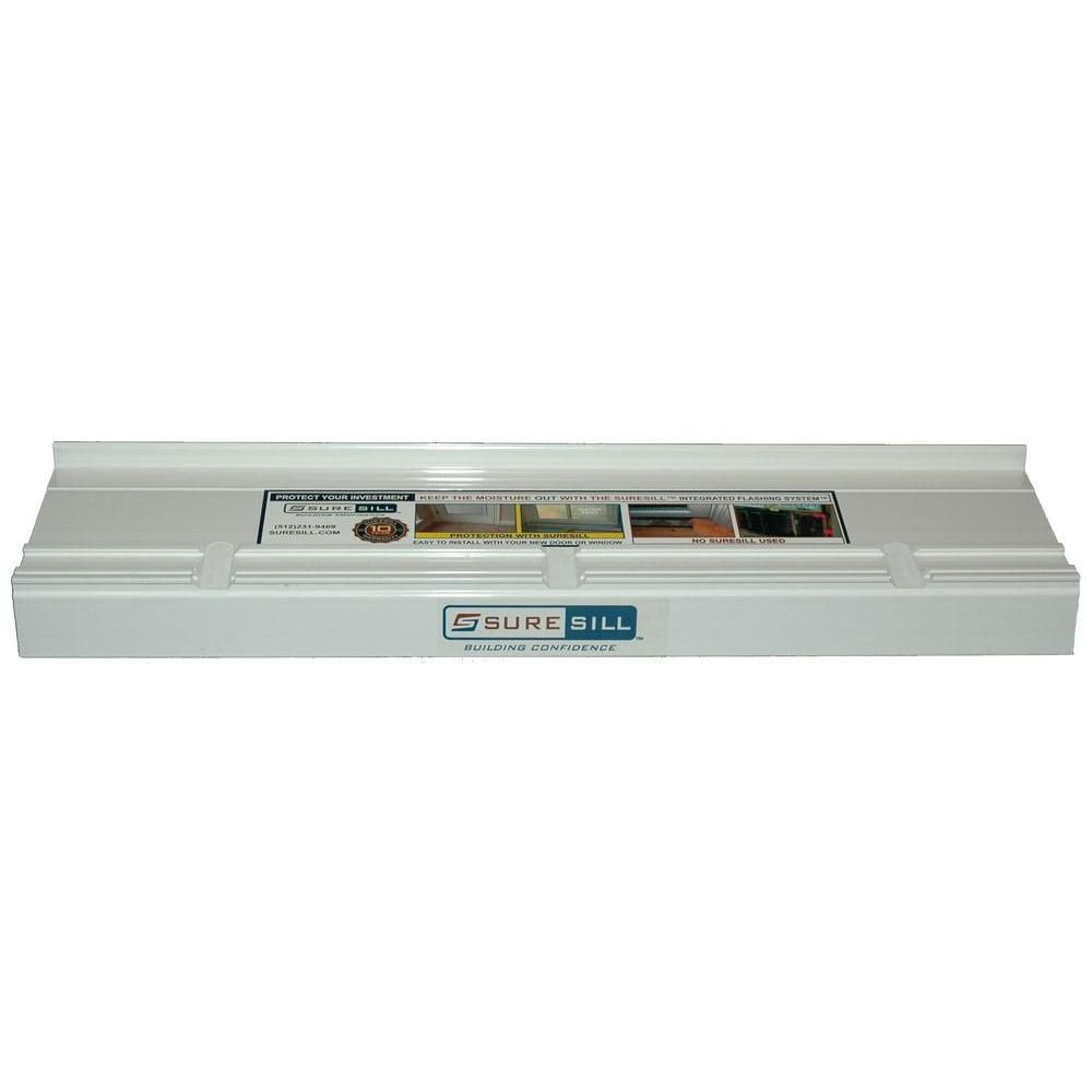 4 9/16-inch x 80-inch Sloped Sill Pans for Door/Window Installation and Flashing in White (10 Pac...