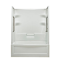 Belaire 60-inch x 78-inch x 32.5-inch 4-shelf 3-Piece Right Hand Drain Tub & Shower with Grab Bar