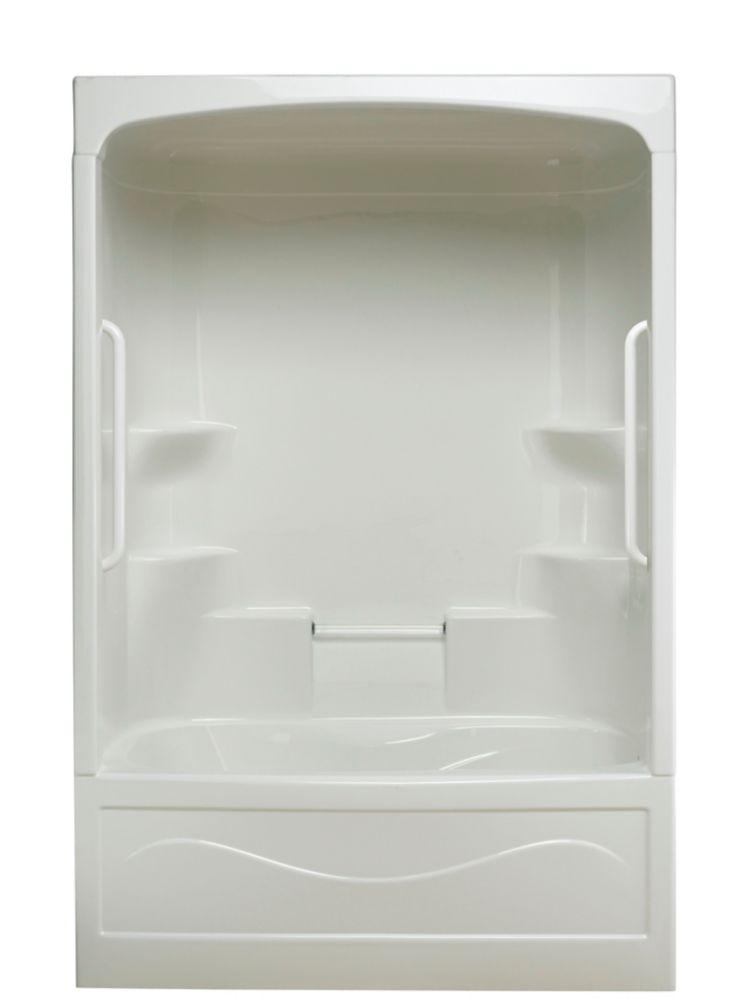Liberty 1-piece Jet Air Tub and Shower Free Living Series - Light- Right Hand