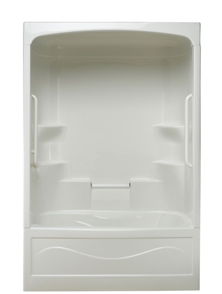 Parker 20 Acrylic 60 Inch 3 Piece Tub And Shower Whirlpool Left Hand PT523L