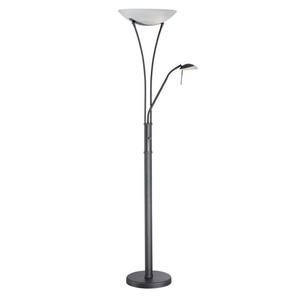 illumine 1 1 light floor lamp black finish the home depot canada. Black Bedroom Furniture Sets. Home Design Ideas