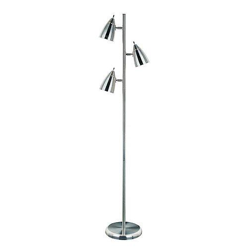 Illumine 3 light floor lamp steel finish the home depot canada 3 light floor lamp steel finish mozeypictures Gallery