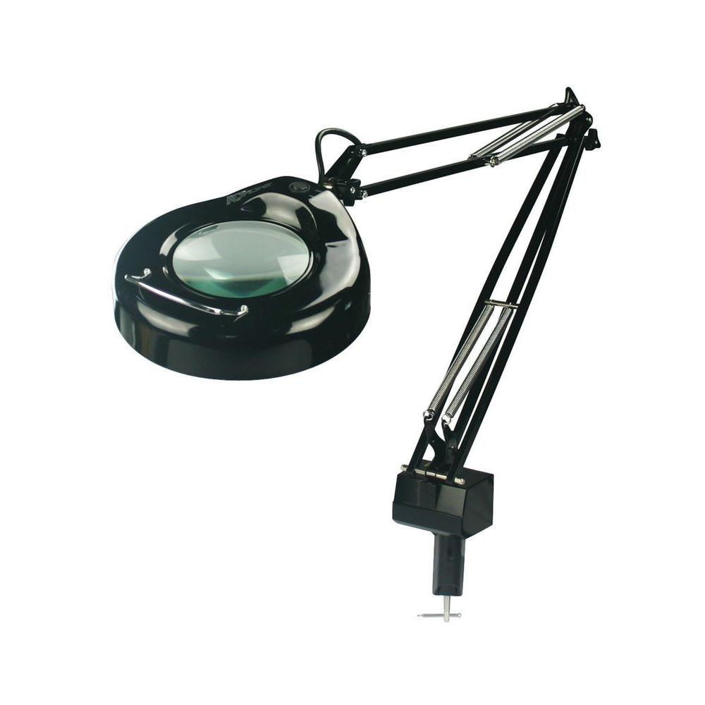 1 Light Magnifying Lamp Black Finish