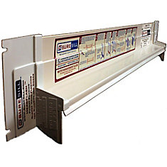 1 3/8-inch x 126-inch Sloped Head Flashing for Door and Window Installation and Flashing in White