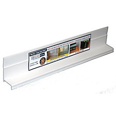 1 3/8-inch x 84-inch PVC Sloped Head Flashing for Door and Window Installation and Flashing in White (20 Pack)