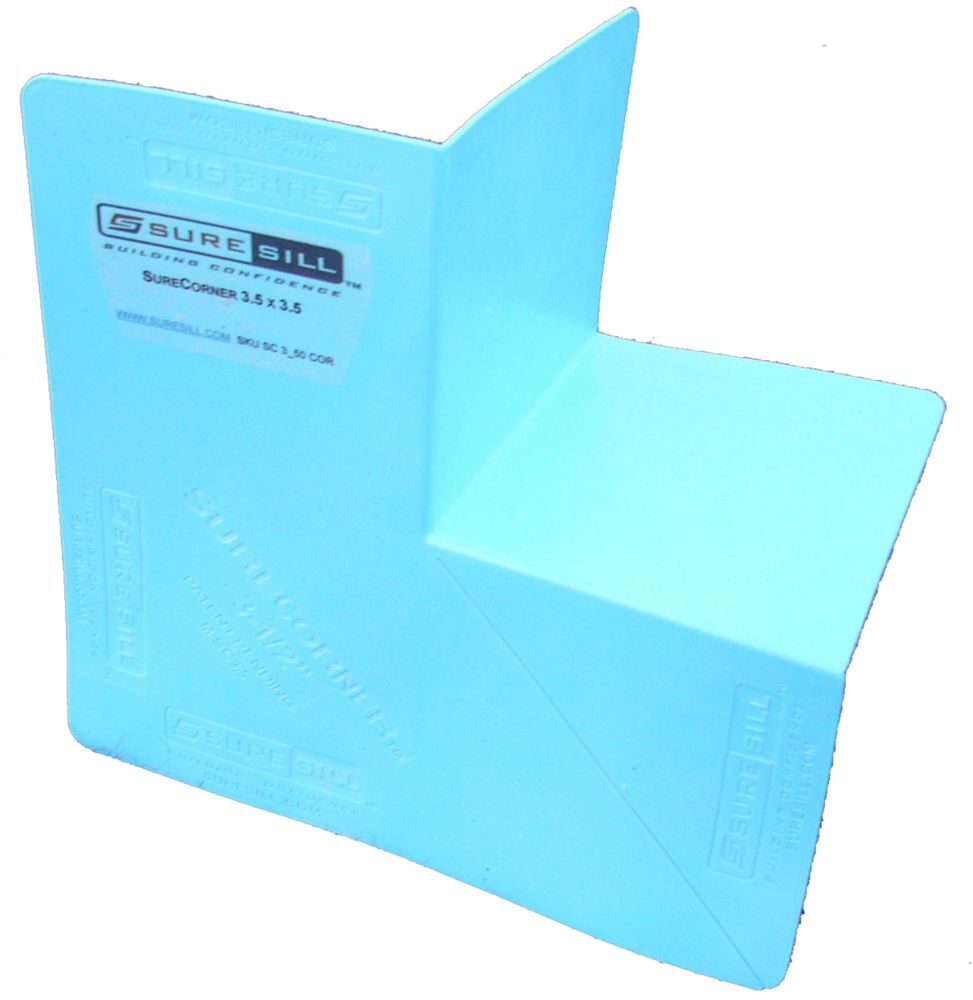 SureCorner Flexible Corner Flashing for Door and Window Installation 3-1/2 In - 100/box