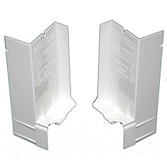 2 1/16-inch Sloped Sill Pan for Window Installation and Flashing End Caps (1 Pair)