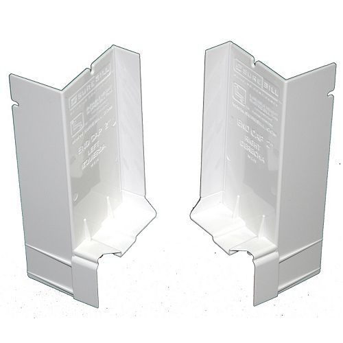 SureSill 2 1/16-inch Sloped Sill Pan for Window Installation and Flashing End Caps (1 Pair)