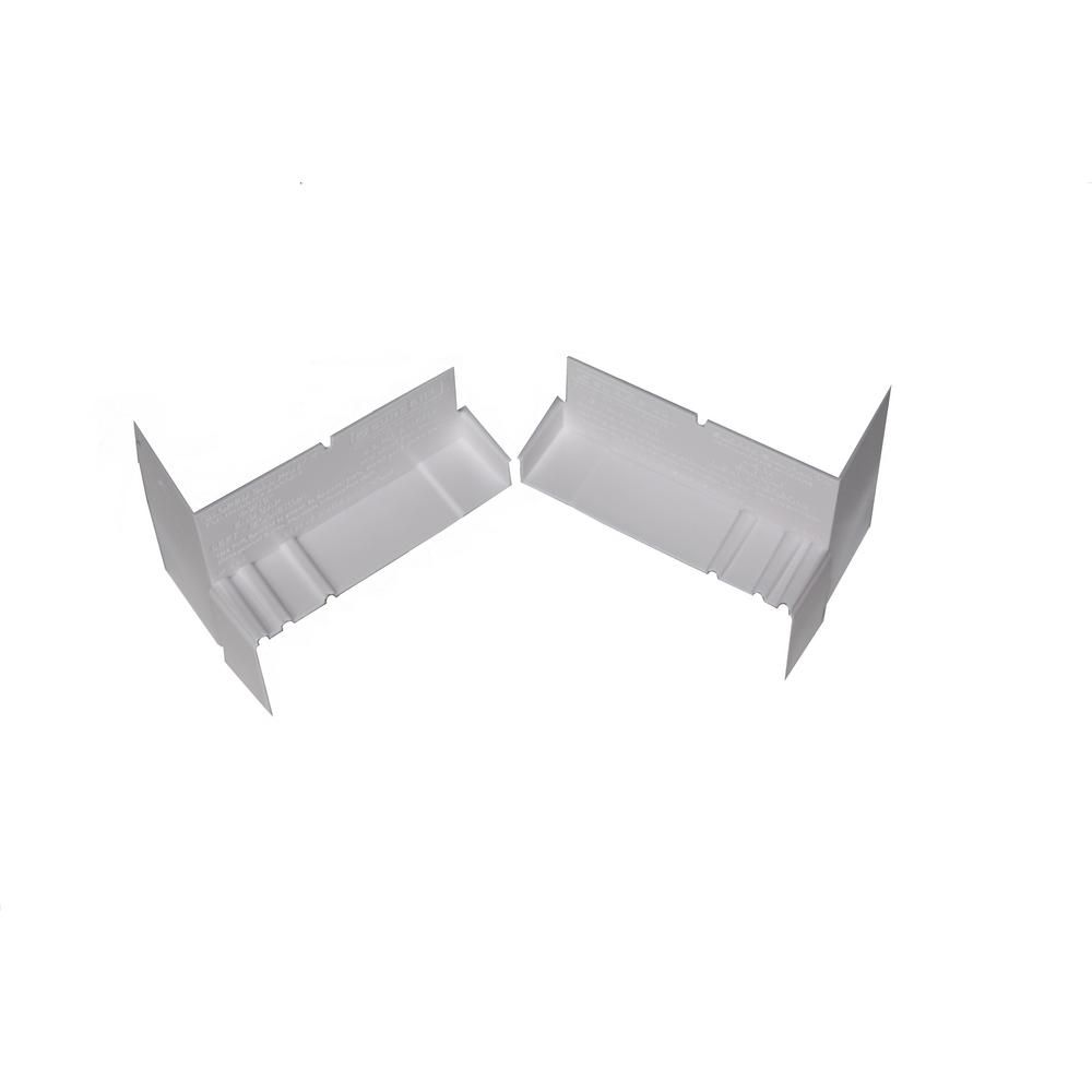 6 9/16-inch Sloped Sill Pan End Caps in White (20 Pack)