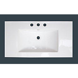 American Imaginations 32-inch W x 18-inch D Ceramic Top with 8-inch Centres in White