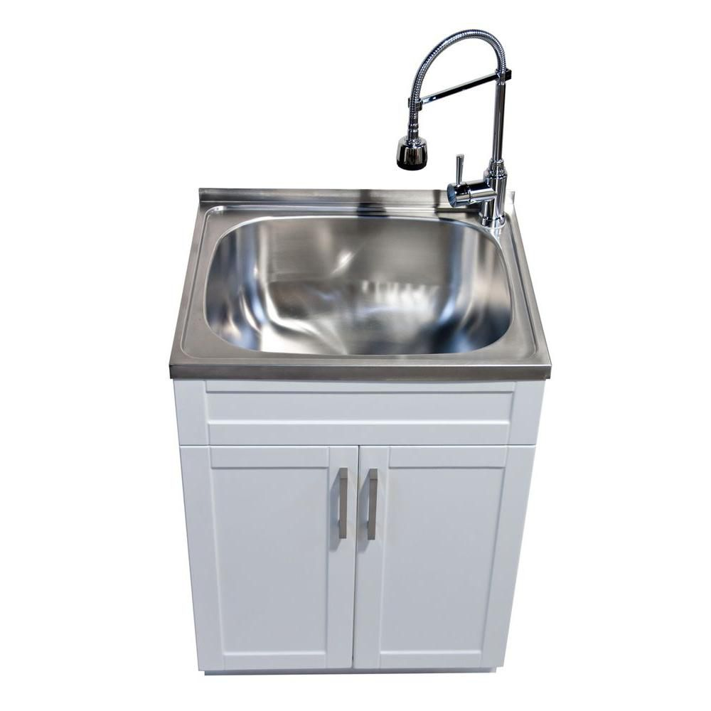 Glacier Bay Utility Laundry Sink With Cabinet The Home Depot Canada
