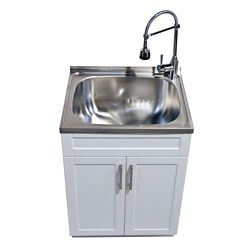 GLACIER BAY Utility Laundry Sink With Cabinet
