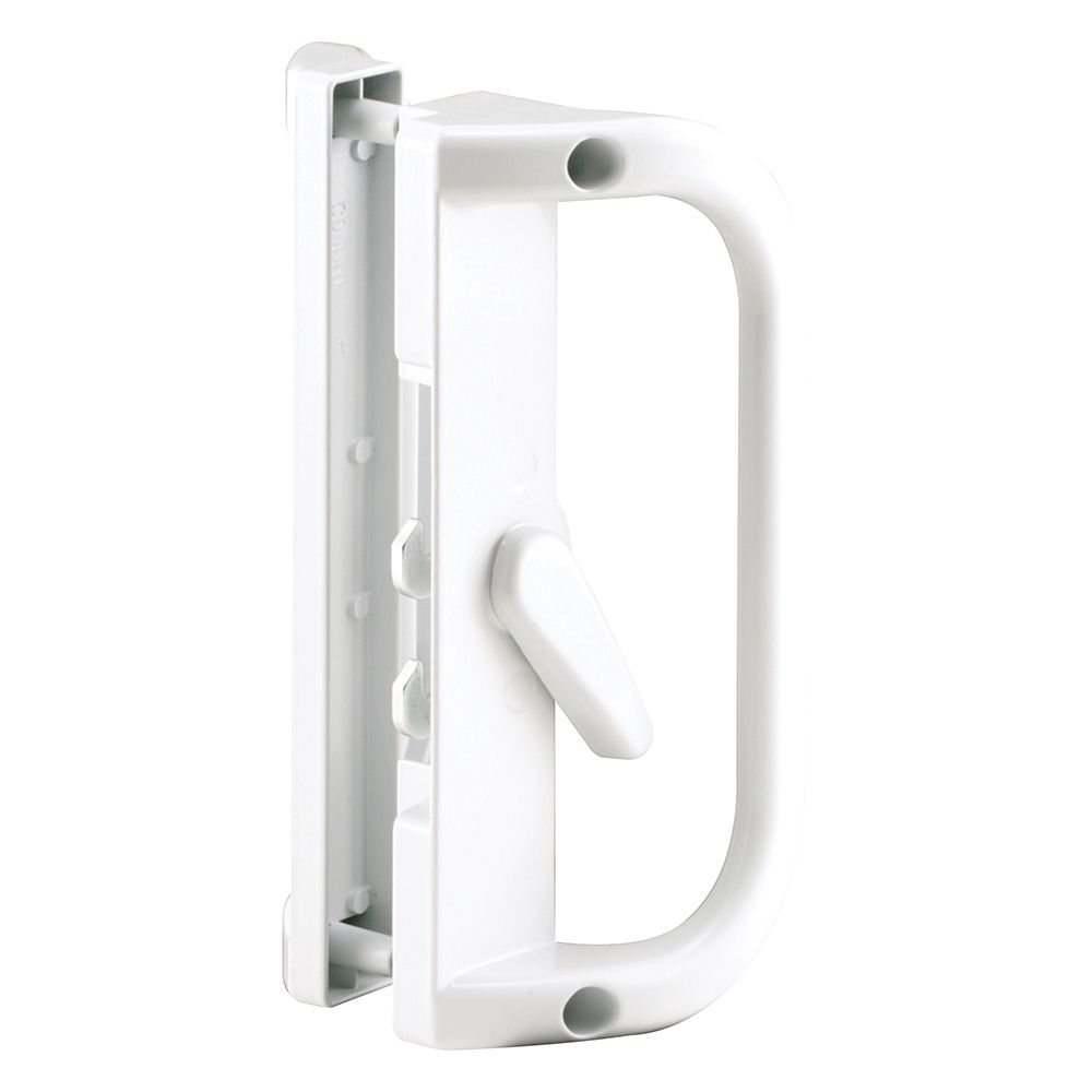 Prime line sliding patio door handle white the home for Patio door handle home depot