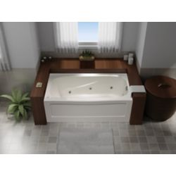 Mirolin Tuscon 3 Acrylic Rectangular Whirlpool Bathtub Left Hand in White