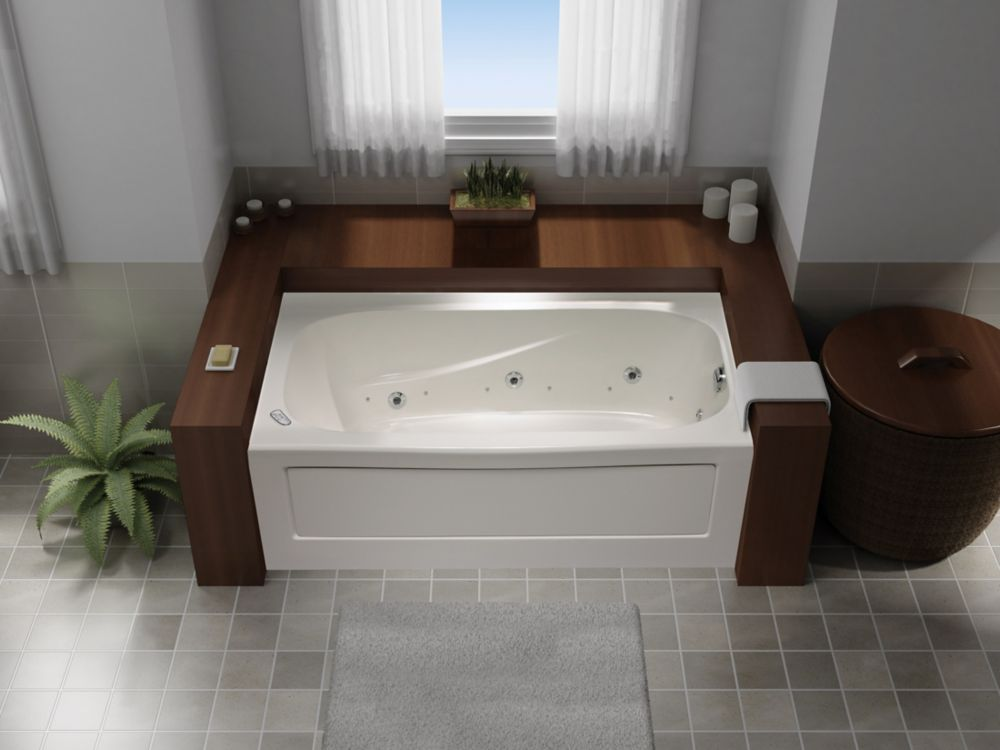 Tucson 3 Skirted Combination Whirlpool/Jet Air Acrylic Tub- Right Hand JTAS7236RW in Canada