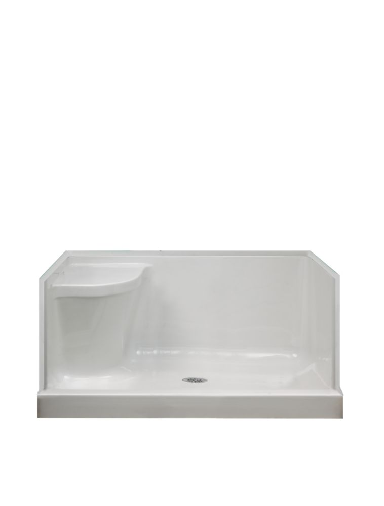 Ellis 48 Acrylic Shower Base With Seat- Right Hand EB4836RS Canada Discount