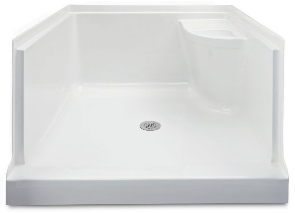 Mirolin Ellis 42 Acrylic Shower Base With Seat Left Hand