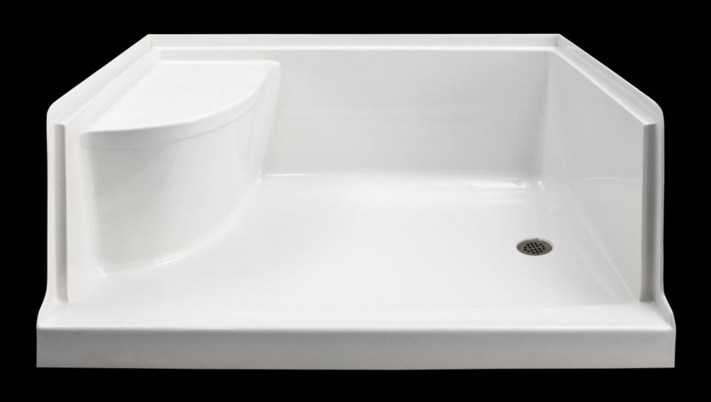 Ellis 60 Xl Acrylic Shower Base With Seat Right Hand