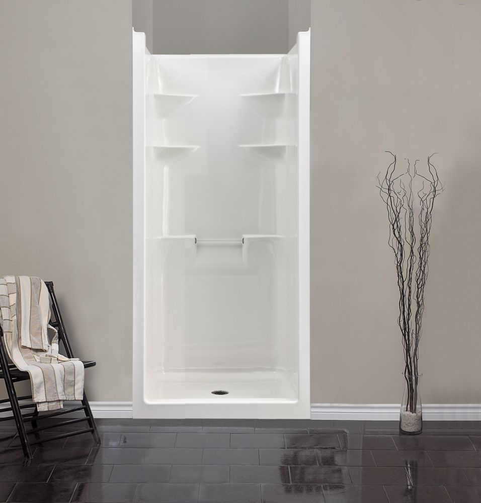 mirolin melrose 3 cabine de douche monobloc en acrylique home depot canada. Black Bedroom Furniture Sets. Home Design Ideas