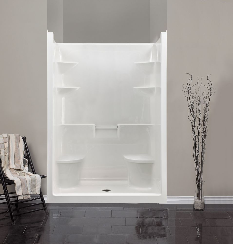 Melrose 5 1-Piece Acrylic Shower Stall with Dual Seats