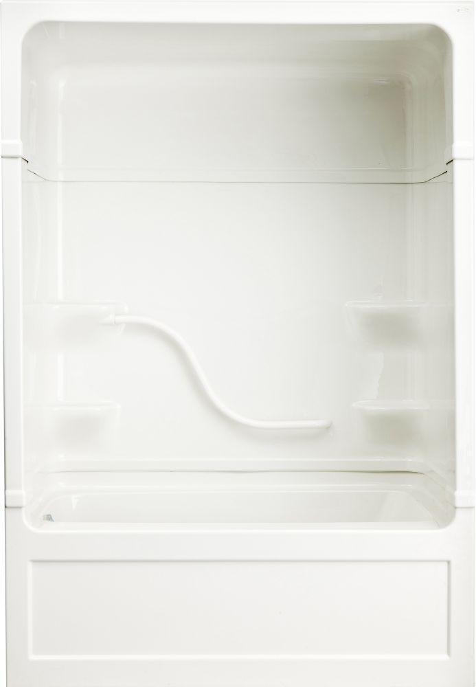 Parker 20 - Douche et bain-tourbillon 3 pièces en acrylique - 60 pouces - Gauche