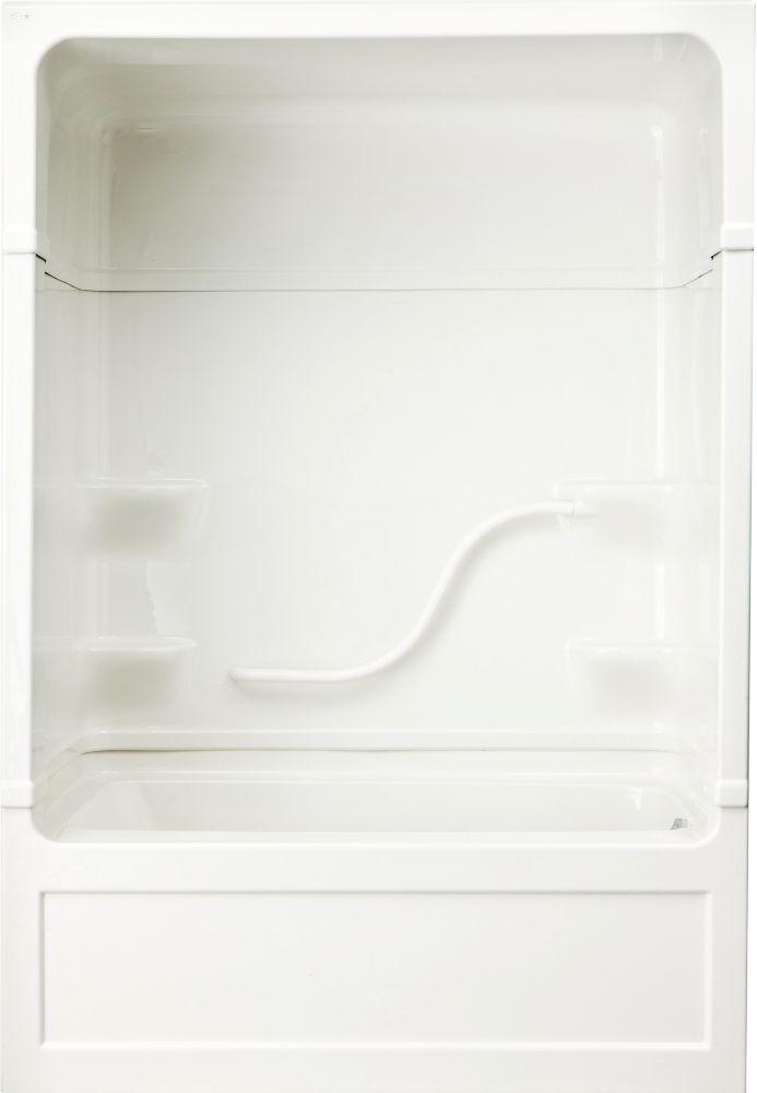 Parker 20 - Douche et bain-tourbillon 3 pièces en acrylique - 60 pouces - Droite