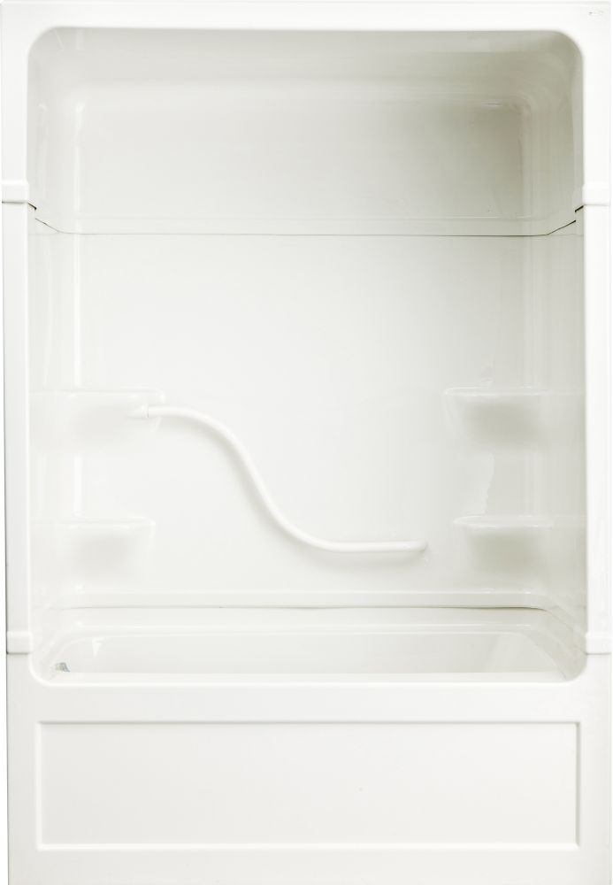 Parker 20 - Acrylic 60 Inch 3-piece Tub And Shower Jet-Air-Left Hand