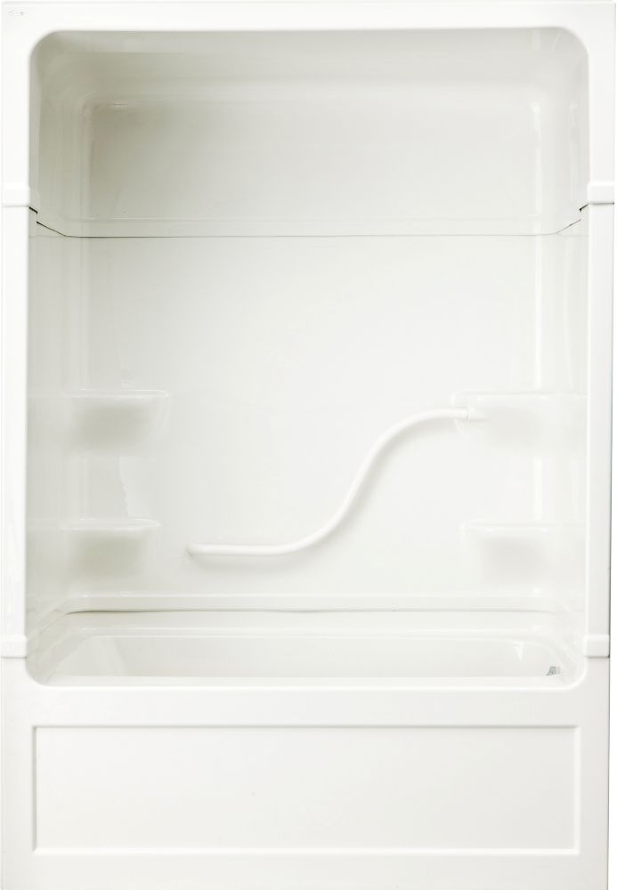 Parker 20 - Acrylic 60 Inch 3-piece Tub And Shower Combination Whirlpool/Jet-Air- Right Hand