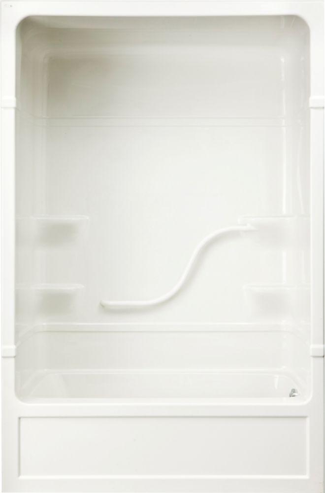 Parker 16 - Douche et bain-tourbillon 3 pièces en acrylique - 60 pouces - Droite