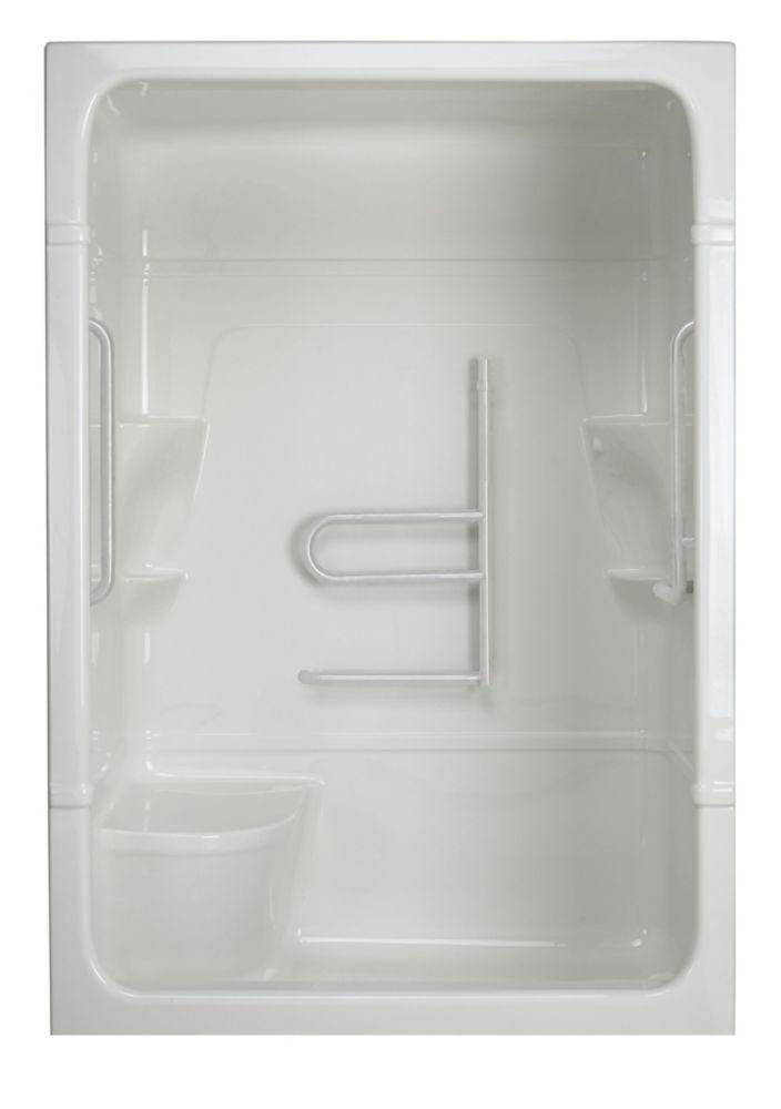 Madison 5 - Cabine de douche monobloc avec siège - Série Free Living (Grand) - Droite