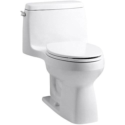 Santa Rosa 1-Piece Single-Flush Elongated Bowl Toilet in White