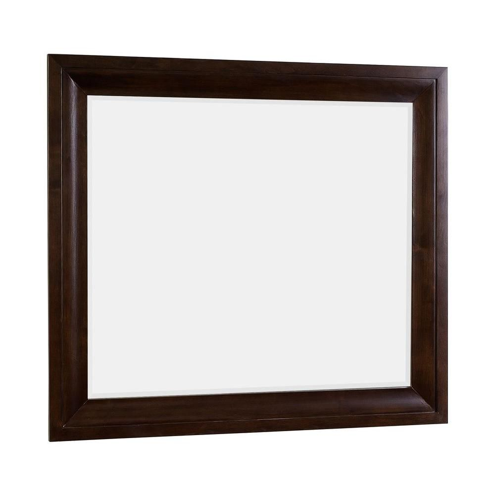 Canada 24 in w x 32 in h modern plywood melamine wood for Wood framed mirrors