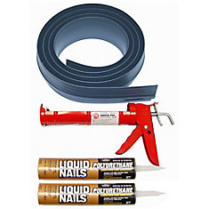 18 ft. Gray Garage Door Threshold Kit