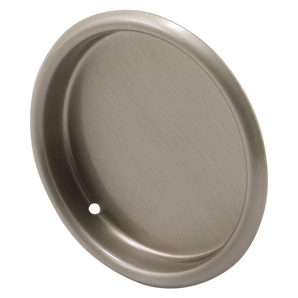 2 1/8-inch Satin Nickel Closet Finger Pull