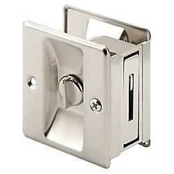 Prime-Line Satin Nickel Pocket Door Privacy Latch