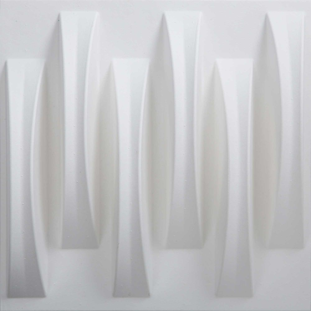 PaperForms Acoustic Weave Wallpaper Tiles White Color (Paintable) 12 Tile Pack (13 x 12 x 2 inche...