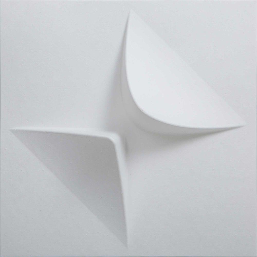 MIO PaperForms V2 Carreaux Modulables Papier-peints Couleur Blanc (peuvent peuvent être peints) Paquet de 12 Carreaux (1 x 1 pieds x 2 pouces)