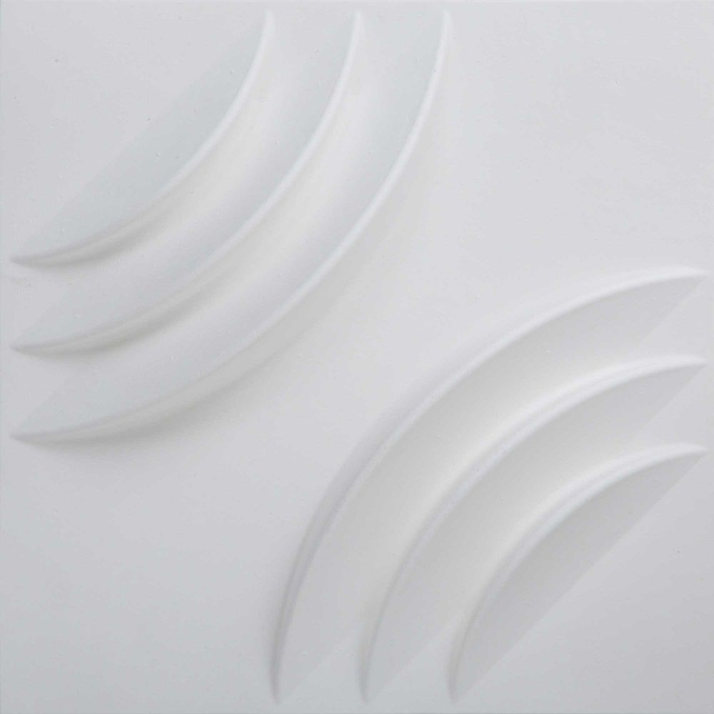 PaperForms Ripple Wallpaper Tiles White Color (Paintable) 12 Tile Pack (1 x 1 feet x 1 inches dee...