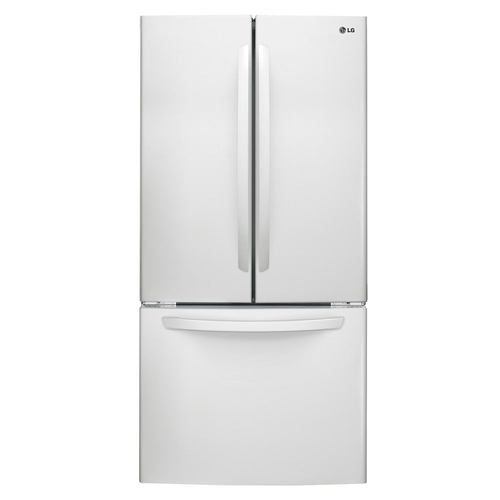 white french door refrigerator. French Door Refrigerator With Bottom Freezer In White 2