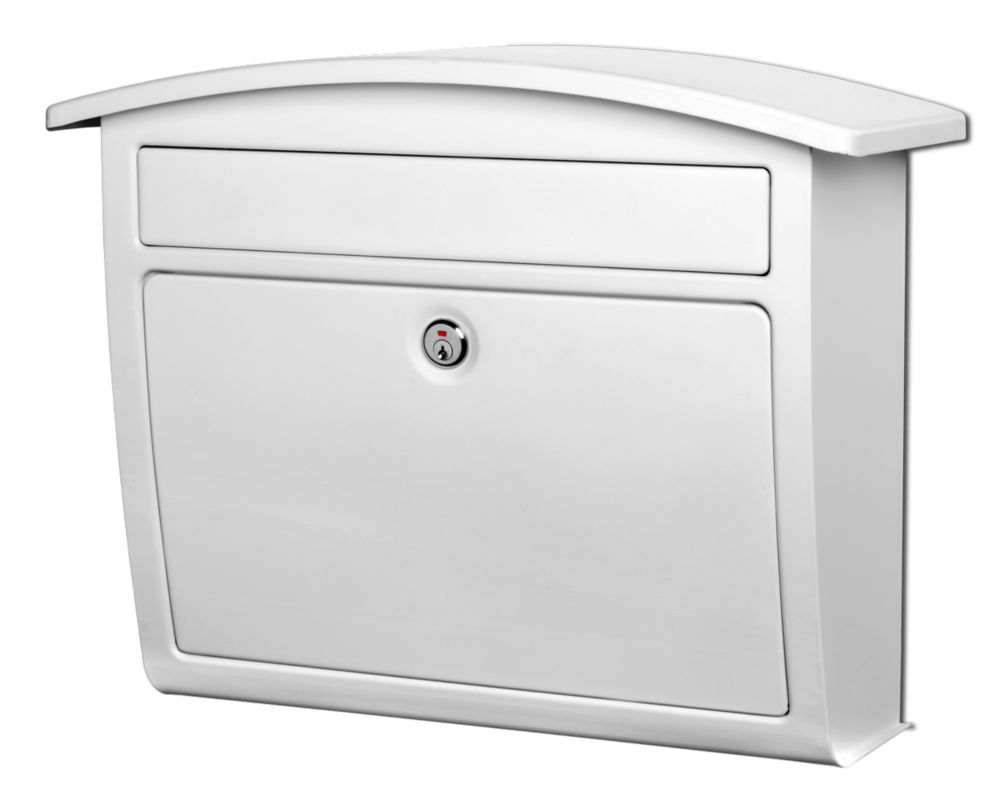 Dal Rae Locking Wall Mount Mailbox White