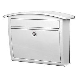 Architectural Mailboxes Dal Rae Locking Wall Mount Mailbox White