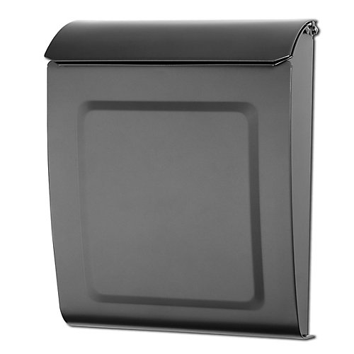 Aspen Locking Wall Mount Mailbox Graphite