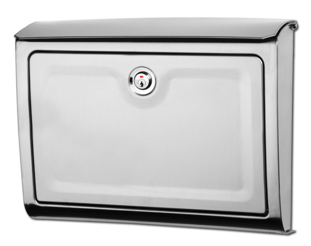 Avenue Locking Wall Mount Mailbox Stainless Steel